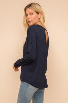 Crochet Detail Long Sleeve Top