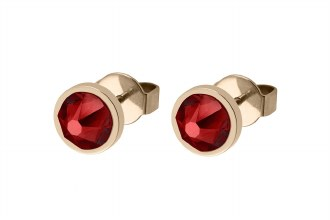 Canino Studs Gold Scarlet