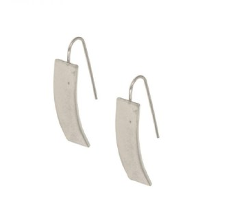 Silver Rectangle Threader Earrings