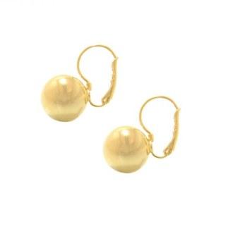 Gold Ball Earring