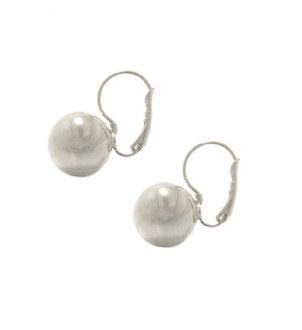 Silver Ball Earring