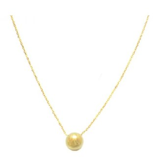 """Gold Ball Necklace 18"""""""
