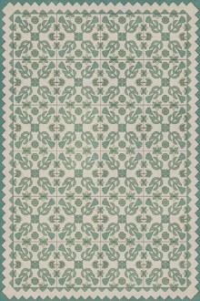 Vinyl Floormat Floral Quilt First Snow 20x30