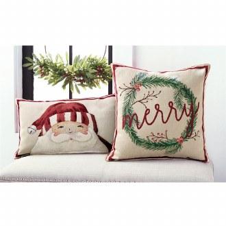 Santa Tapestry Pillow