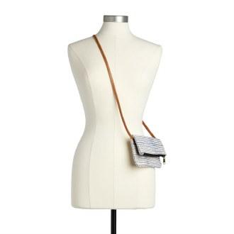 Hip/Crossbody Bag: Navy Pinstripe