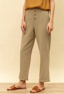 Button Front Loose Fit Trouser Small
