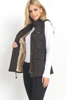 Anorak Vest With Fur (No Hood)