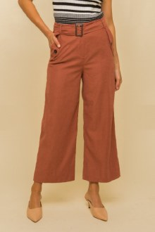 Belted Crop Pants Small