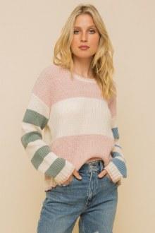 Color Block Sweater Small