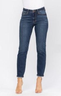 Judy Blue Cuffed Boyfriend Jeans