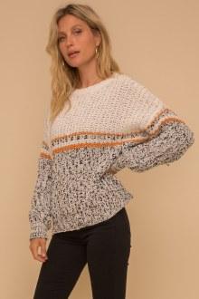 Color Block Low Gauge Sweater
