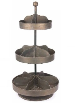 Metal 3-Tier Spin Display