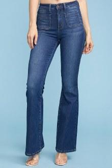Judy Blue Patch Pocket Flare Jeans
