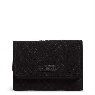 RFID Riley Compact Wallet: Classic Black