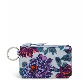 RFID Deluxe Zip ID Case Petite Neon Blooms