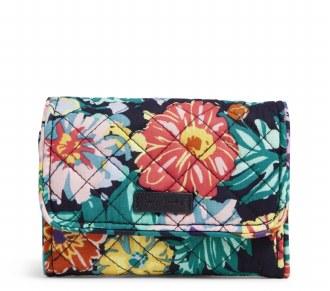 RFID Riley Compact Wallet: Happy Blooms