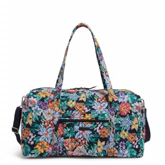 Large Travel Duffel : Happy Blooms