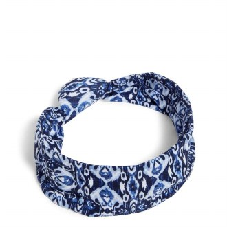 Knotted Headband with Buttons Ikat Island