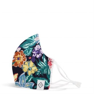 Fitted Mask w/ Adjusters Happy Blooms