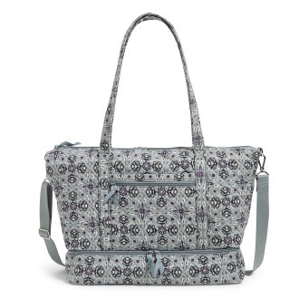 Deluxe Travel Tote: Plaza Tile