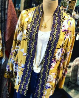 Printed Dolman Kimono S/M