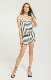 Azure Stripe Romper Small