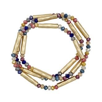 Multi Beads & Gold Bars