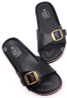 Boho Buckle Sandal Black size 6