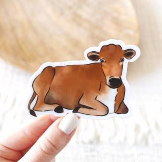 Sticker: Brown Cow