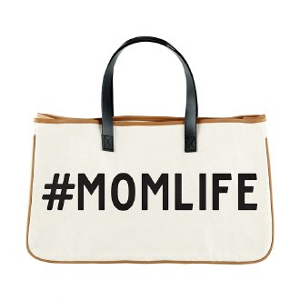 Canvas Tote: #Momlife