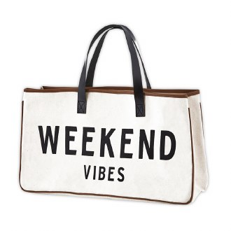 Canvas Tote: Weekend Vibes