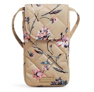 Carson RFID Deluxe Cellphone Crossbody Strawflowers