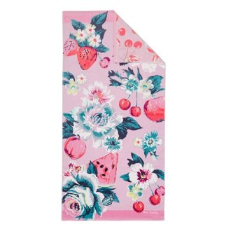 Double Sided Beach Towel Rose Garden Picnic
