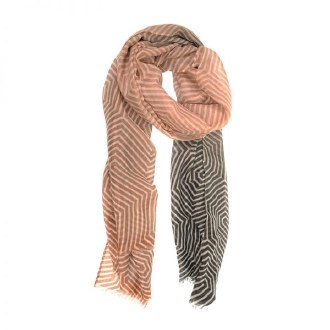 Neutral Ombre Twisted Geo Scarf