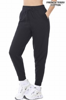 French Terry Jogger Pants Black