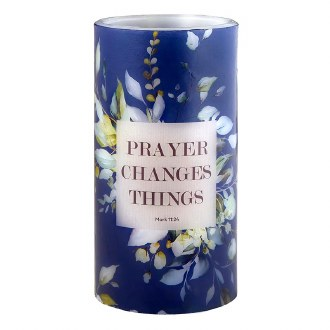 """Lumology Led Candle: """"Prayer Changes Things"""""""