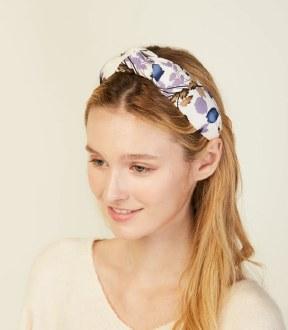 Garden Knotted Headband Beige