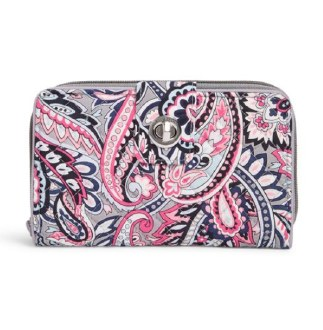 Iconic RFID Turnlock Wallet Gramercy Paisley
