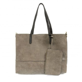Brushed 2 in 1 Tote Brushed Fossil