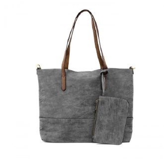 Brushed 2 in 1 Tote Charcoal