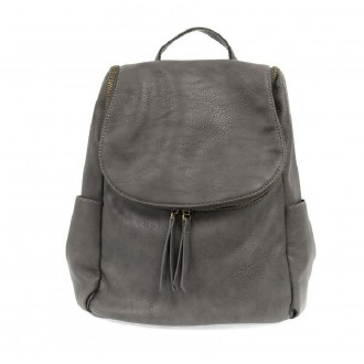Kerri Side Pocket Backpack Charcoal