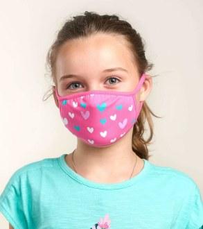 Kids Mask Hearts 2-5 years