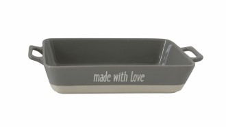 """14.5"""" Stoneware """"Made with Lov"""