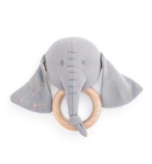 Linen Rattle-Elephant