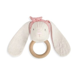 Linen Rattle-Pink Bunny