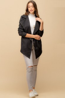 Long Moto Knit Jacket Medium