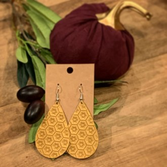 Locally Made Leather Earrings