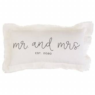 Mr. and Mrs. est. 2020 Pillow