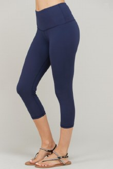Capri Butter Leggings: Navy