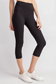Capri Pocket Leggings: Black